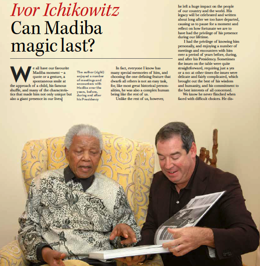 Tribute to Nelson Mandela by Ivor Ichikowitz
